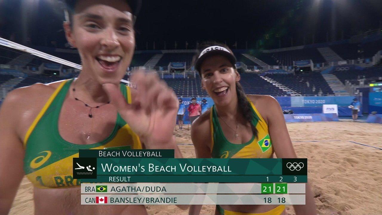 Melhores Momentos Brasil 2 x 0 Canadá pelo Volei de Praia Feminino