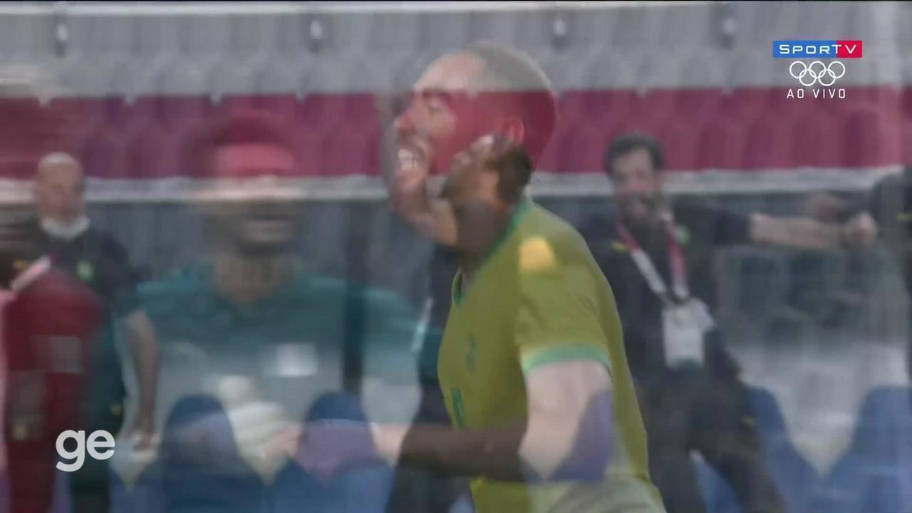 Assista ao gol de Matheus Cunha na vitória do Brasil sobre o Egito