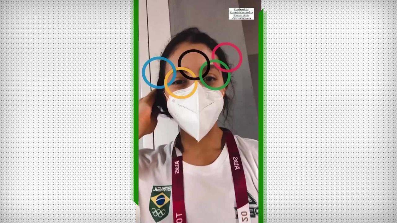 Caçulas do Time Brasil, meninas da ginástica rítmica chegam na Vila Olímpica