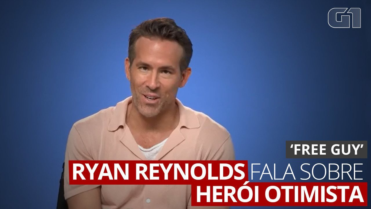 Ryan Reynolds fala sobre herói otimista de 'Free Guy