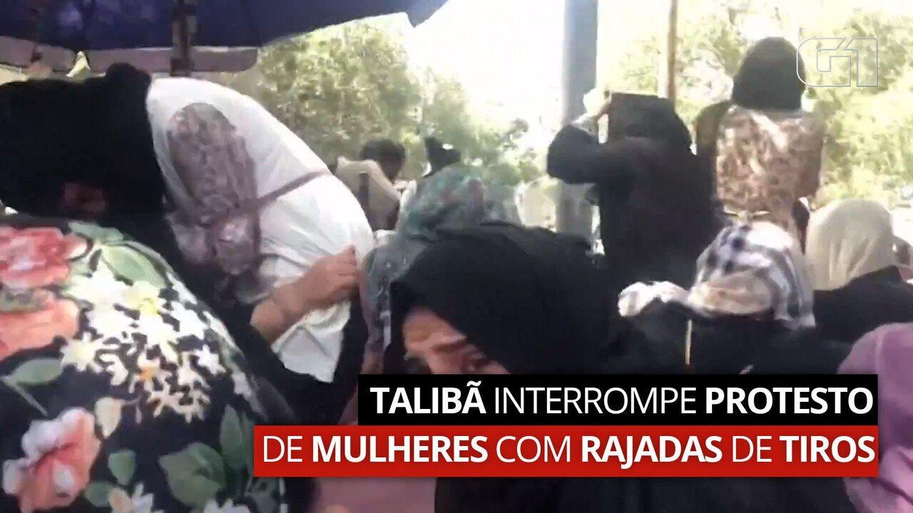 Talibã interrompe protesto de mulheres com rajadas de tiros; OUÇA