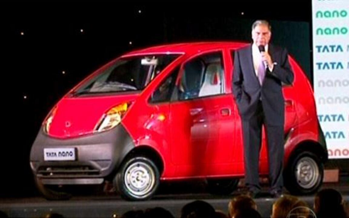 Reveja reportagem do Jornal da Globo sobre o lançamento do 'carro mais barato do mundo', em 2009